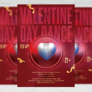 Valentine Day Dance - Flyer PSD Template