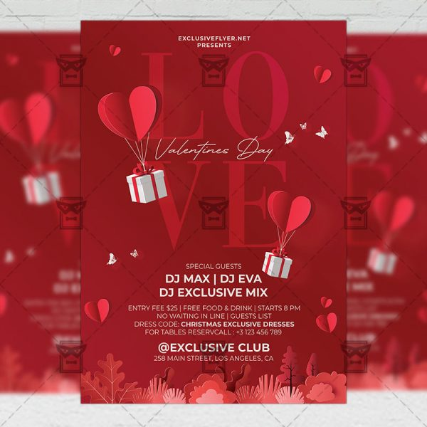 Valentines Day - Flyer PSD Template