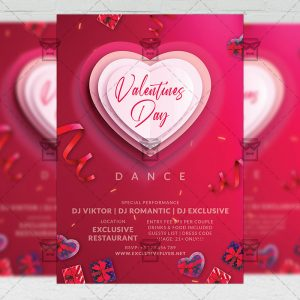 Valentines Day Dance - Flyer PSD Template