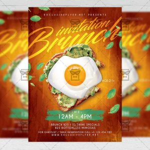 Brunch Invitation - Flyer PSD Template