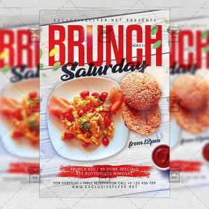 Brunch Saturday - Flyer PSD Template