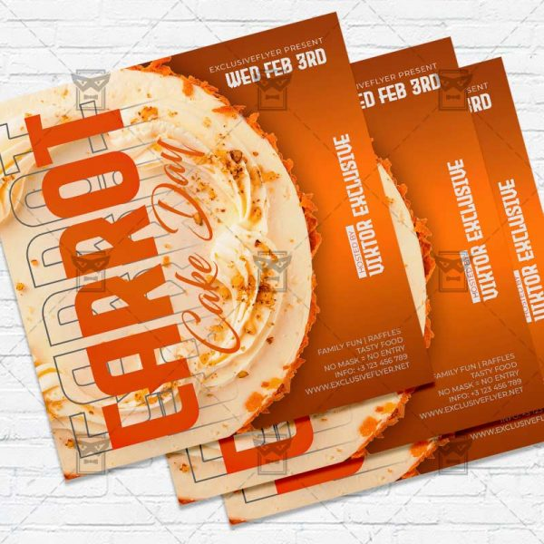 Carrot Cake Day - Flyer PSD Template
