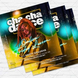 Cha Cha Dance - Flyer PSD Template