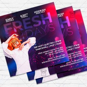 Fresh Fridays- Flyer PSD Template