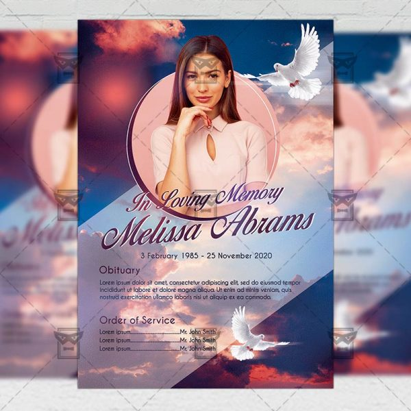 Funeral Obituary - Flyer PSD Template