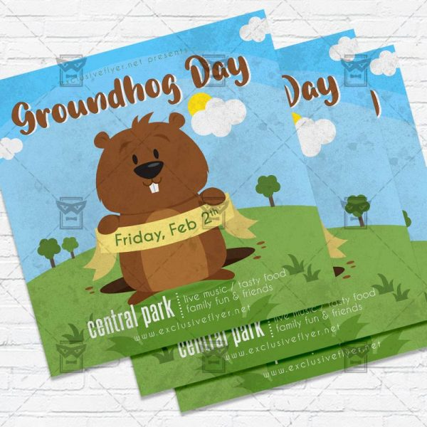 Groundhog Day - Flyer PSD Template