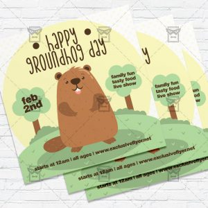 Groundhog Day Celebration - Flyer PSD Template