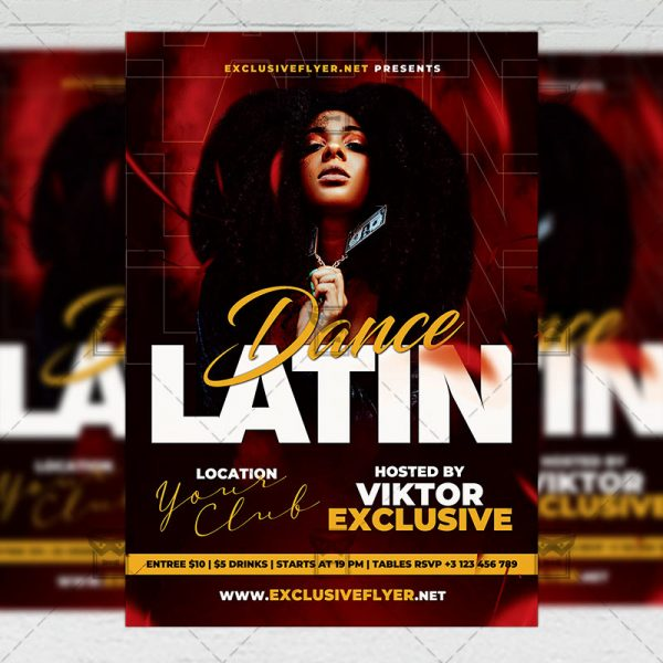 Latin Dance - Flyer PSD Template