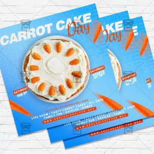 National Carrot Cake Day - Flyer PSD Template