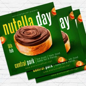 Nutella Day- Flyer PSD Template