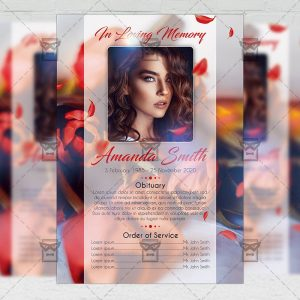 Obituary Program - Flyer PSD Template
