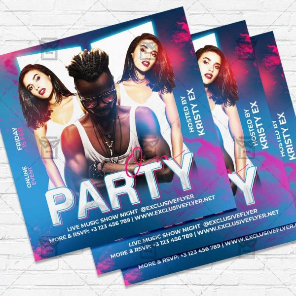 Party On - Flyer PSD Template