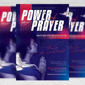 Power of Prayer - Flyer PSD Template