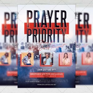 Prayer Priority - Flyer PSD Template