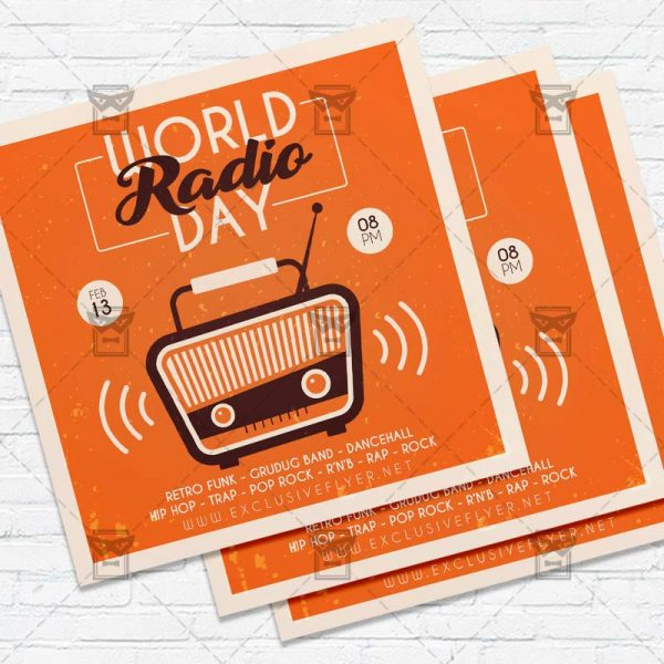Radio Day- Flyer PSD Template
