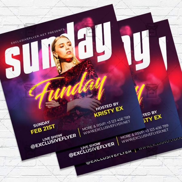 Sunday Funday- Flyer PSD Template