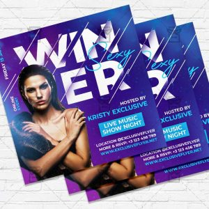 Winter - Flyer PSD Template