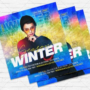 Winter Season - Flyer PSD Template