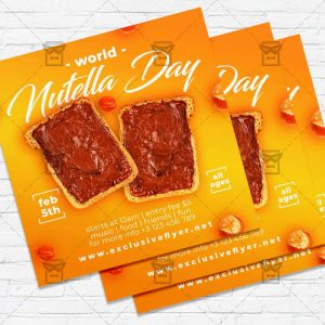 World Nutella Day - Flyer PSD Template