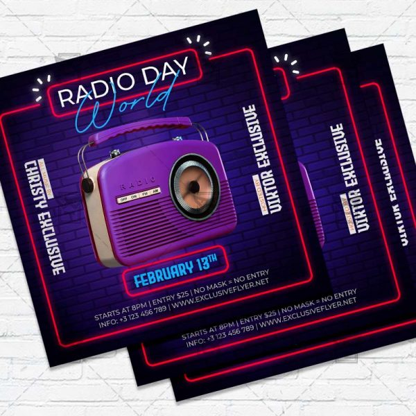 World Radio Day- Flyer PSD Template