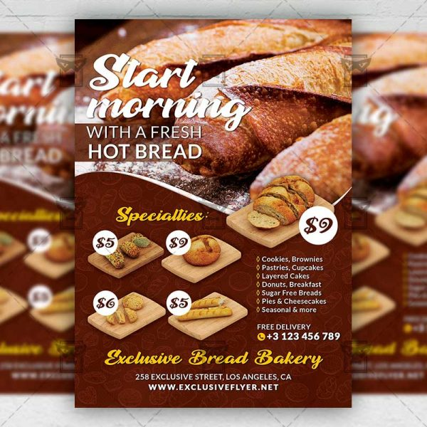 Bread Delivery - Flyer PSD Template