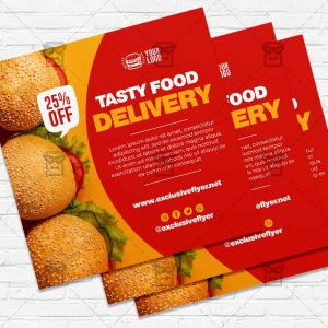 Food Delivery - Flyer PSD Template