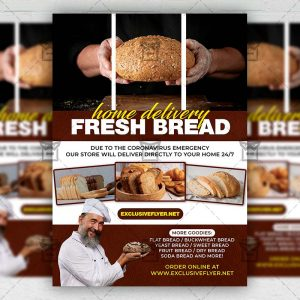 Fresh Bread - Flyer PSD Template