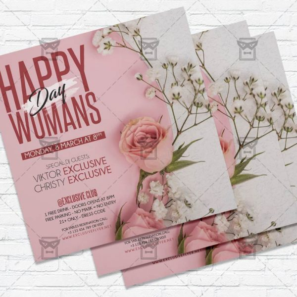 Happy International Womans Day - Flyer PSD Template