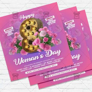 Happy Women Day - Flyer PSD Template