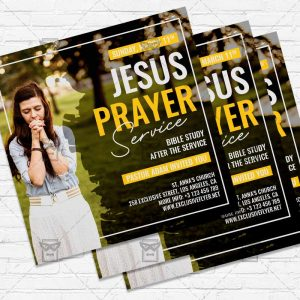 Jesus Prayer - Flyer PSD Template