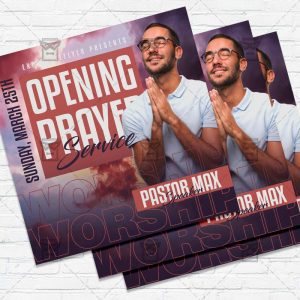 Opening Prayer - Flyer PSD Template