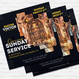 Opening Sunday Service - Flyer PSD Template