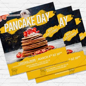 Pancake Day - Flyer PSD Template