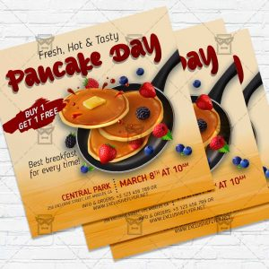 Pancake Day Celebration- Flyer PSD Template