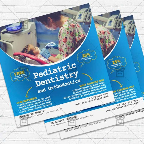 Pediatric Dentistry - Flyer PSD Template