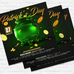 Saint Patricks Day - Flyer PSD Template