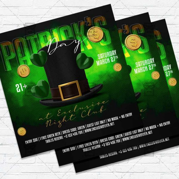 St. Patricks Day Celebration - Flyer PSD Template