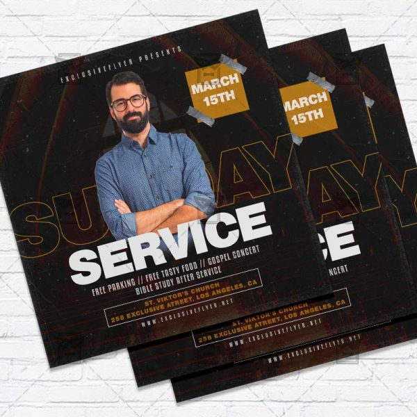 Sunday Service - Flyer PSD Template