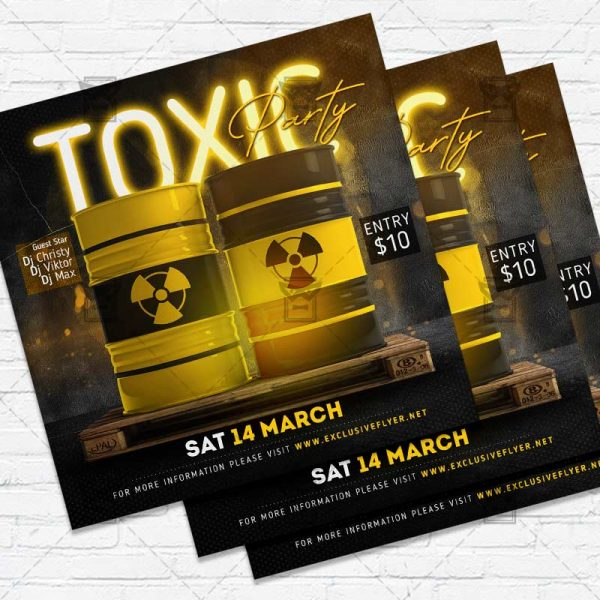 Toxic Night - Flyer PSD Template