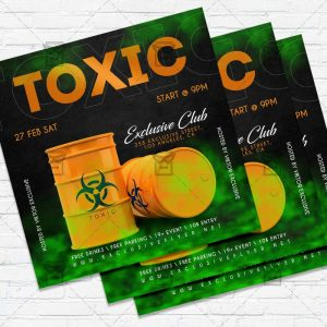 Toxic Party - Flyer PSD Template