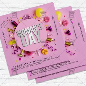 Woman International Day - Flyer PSD Template