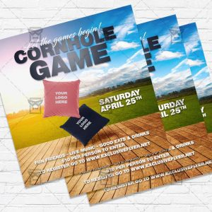 Cornhole Game - Flyer PSD Template