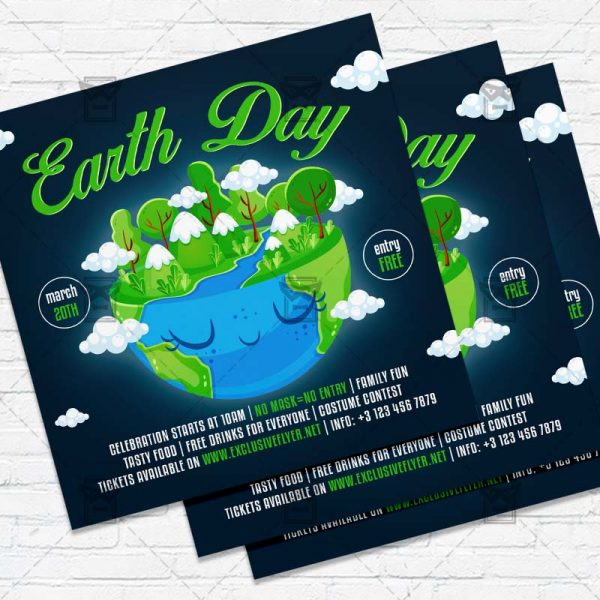 Earth Day - Flyer PSD Template