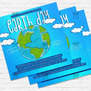 Earth Day Celebration - Flyer PSD Template