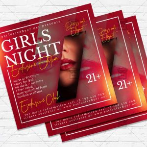 Girls Night - Flyer PSD Template | ExclusiveFlyer