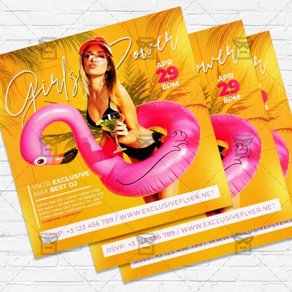GRL PWR - Flyer PSD Template | ExclusiveFlyer
