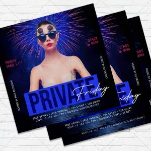 Private Friday - Flyer PSD Template