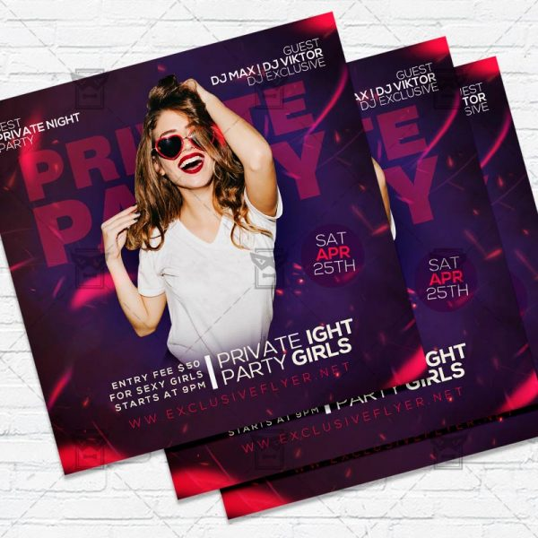 Private Party - Flyer PSD Template