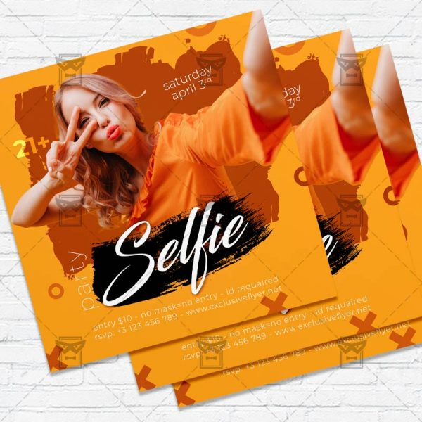Selfie Party - Flyer PSD Template | ExclusiveFlyer