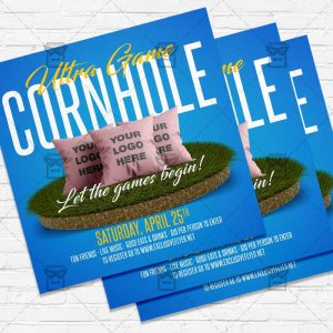 Ultra Cornhole - Flyer PSD Template